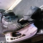 Ремонт носка конька карбоном